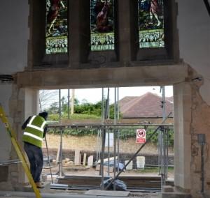 View through the new west door