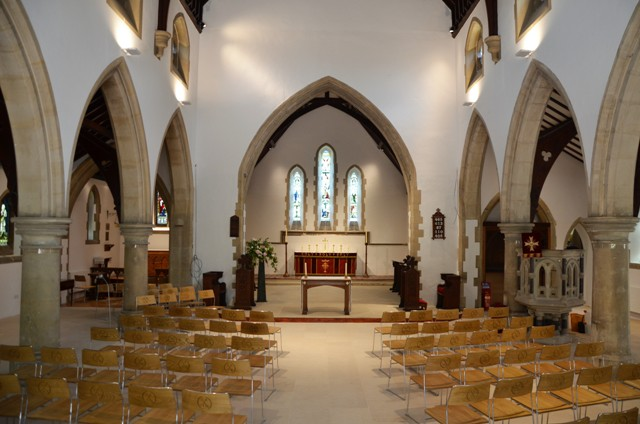 The nave looking east ..