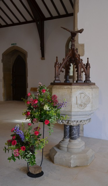 The font back in it's traditional place