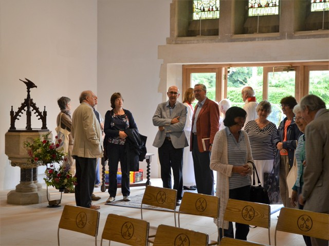 After the service - plenty to talk about